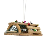 Lobster Trap With Lights Coastal Christmas Ornament