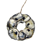 Oyster Shell Wreath Coastal Christmas Ornament