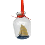 Ship In A Bottle Coastal Christmas Ornament - 2 styles