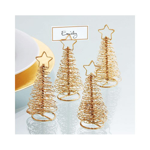gold wire christmas tree place card holders photos signs holiday decor. Black Bedroom Furniture Sets. Home Design Ideas