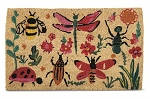Coconut Fiber Love Bugs Welcome Mat
