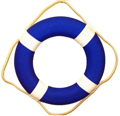 Blue And White Life Ring Clipart