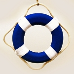 "8"" Solid Color Cloth Covered Life Ring - 4 colors"