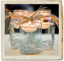 Here Are A Few Creative Ideas For Using Mason Jars In Your Country Western Theme Decorating