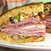 Muffuletta LSU Tailgating Food