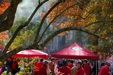 Georgia Bulldogs Tailgating by Peter Zimmerman