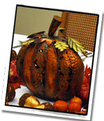 Distressed Metal Pumpkin