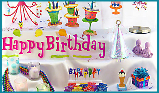 Adult Birthday Theme Party Decorations Cocktail DInner Packages
