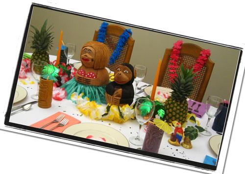 Hawaiian Luau Centerpiece | Dinner Party Decorations