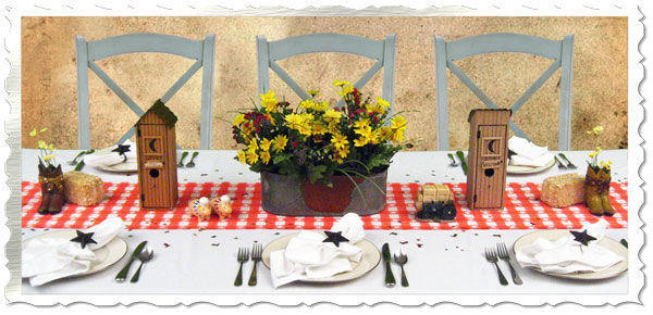 Country western theme dinner decorating rustic cowboy Decoration western