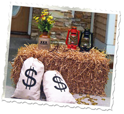 Country Western Hay Bale Entrance