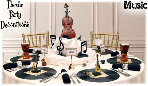 Theme party decorations ideas for adult birthdays for Violin decorating ideas
