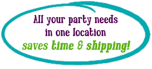 All your party needs in one location, saves time & money
