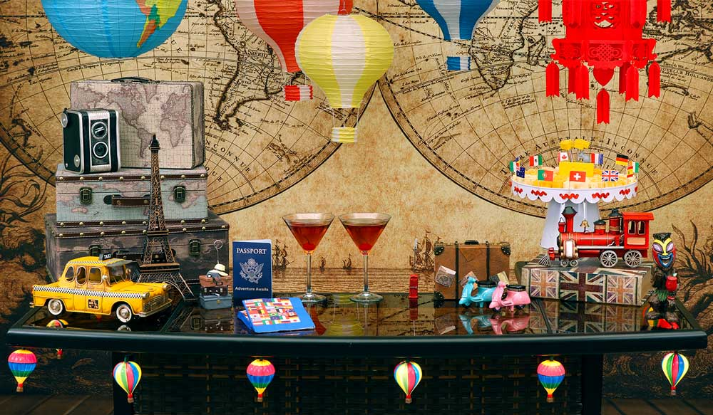 Travel international world countries party theme for International home decor stores