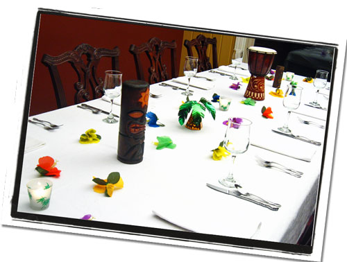 Hawaiian Luau Centerpieces | Tropical Reception & Banquet Table