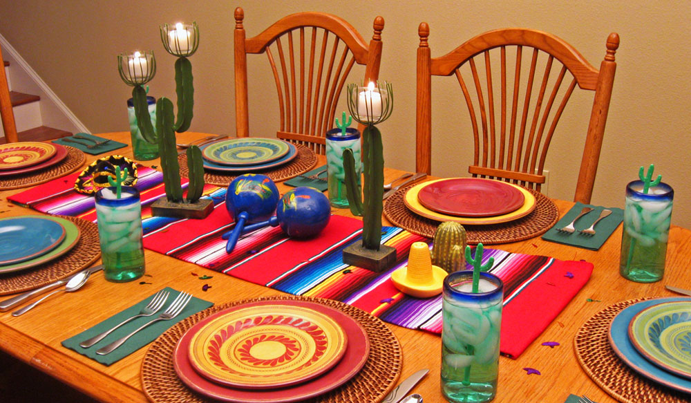 Mexican Centerpiece Dinner Party Decorations