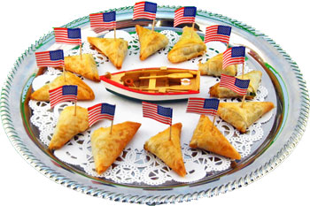 Phyllo Flag Triangles with Spinach