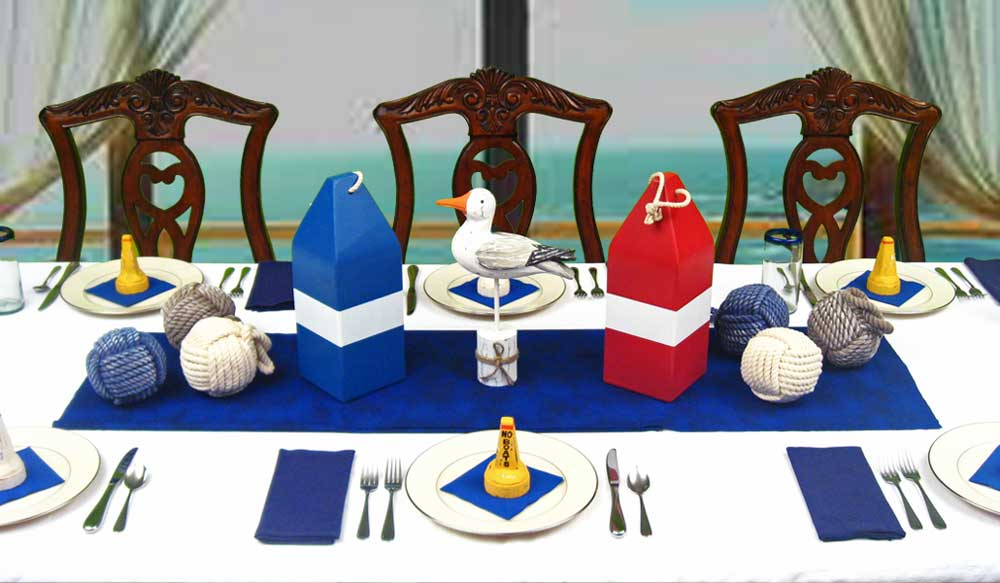ocean themed centerpieces nautical table decorations dinner party ideas. Black Bedroom Furniture Sets. Home Design Ideas