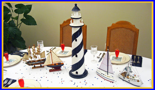 Rustic or Refined Nautical Centerpieces | Dinner Party Decorations