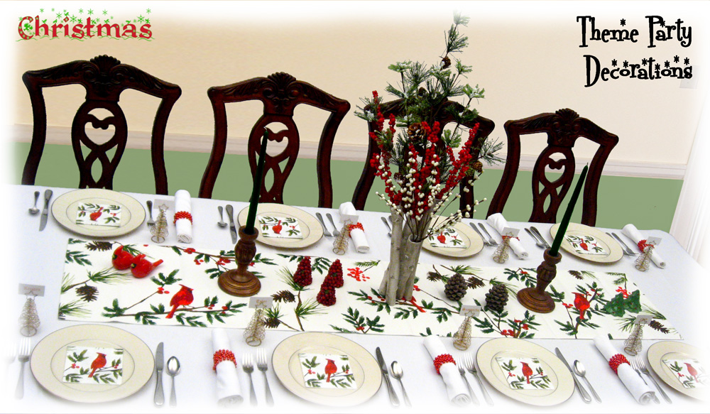 Holiday dinner table decorating christmas centerpieces winter decorations - Christmas dinner decorations pictures ...