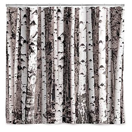 "72"" Birch Tree Forest Backdrop/Shower Curtain"