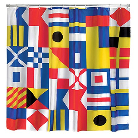 "72"" Nautical Flags Backdrop/Shower Curtain"