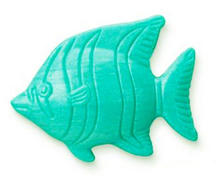 Teal Blue Angelfish Shaped Soap