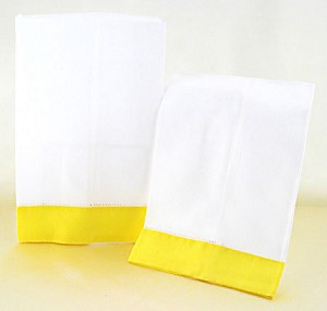 Hand Towels - Yellow Border (Set of 2)