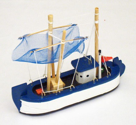 "6"" Wooden Trawler Fishing Boat"