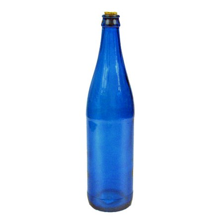 Colored Glass Wine Bottle With Cork - 4 colors