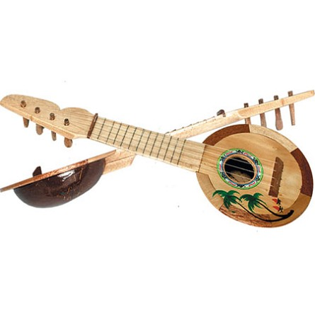 Coconut ukulele tropical beach hawaiian luau party for Decoration ukulele