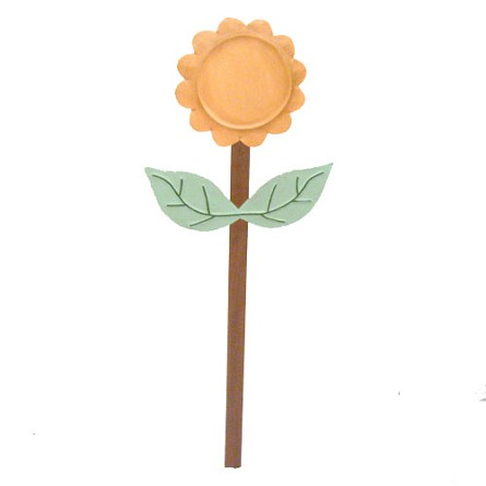 "30"" Tin Flower Yard Stake - 3 colors **CLEARANCE**"