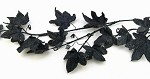 Black Maple Leaf Garland