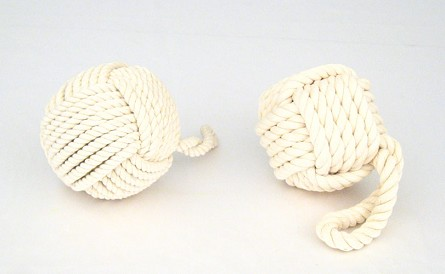 Monkey Fist/Paw Rope Knot Decoration - Bleached