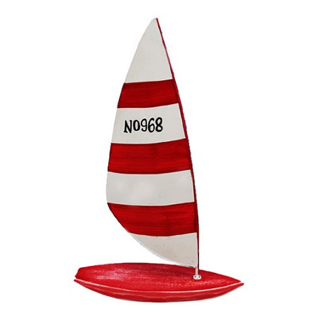 Red & White Striped Sailboat/Sailboard - 3 sizes