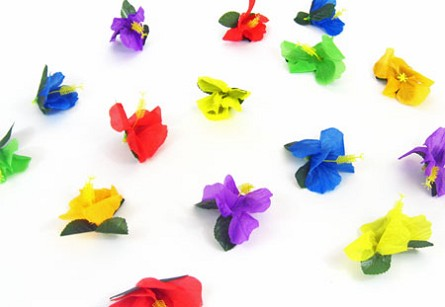 Silk Hibiscus Flowers Table Scatter (24)