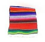 "Mini Mexican Serape 24"" x 56"" (color varies)"