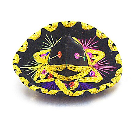 "6"" Miniature Charro Sombrero (color varies)"