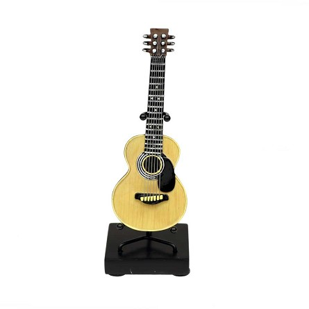 "Mini 5.5"" Classic Acoustic Guitar On Stand"