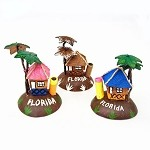 Florida Coconut Tiki Hut With Palm Trees - 3 styles