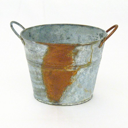 "4.25"" x 5.5"" Weathered Pail"