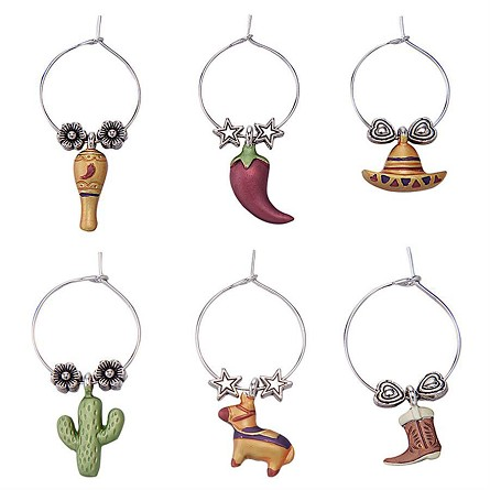 Viva Mexico! Themed Wine Charms (6)