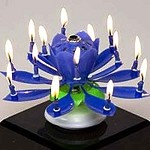Amazing Musical Flower Birthday Candle (3 colors)