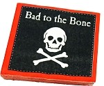 """Bad to the Bone"" Pirate Beverage Napkins"