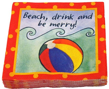 Beach Drink Beverage Napkins