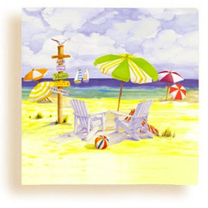 Summer Day at the Beach Beverage Napkins  ** DISCONTINUED **