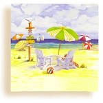 Summer Day at the Beach Beverage Napkins
