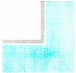 Teal Turquoise Bordered Beverage Napkins (36)