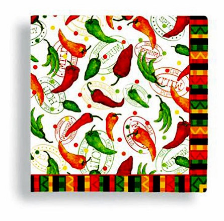Chili Peppers Beverage Napkins