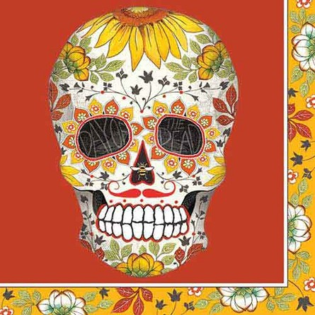day of the dead beverage napkins 20